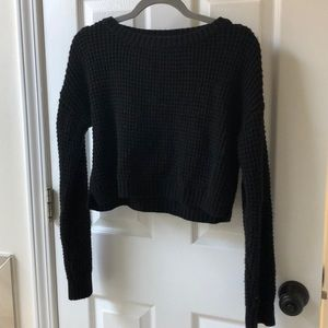 Topshop cropped Knitted Sweater